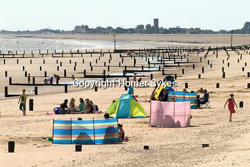 St Marys Bay, Kent looking westward towards Littlestone-on-Sea. UK