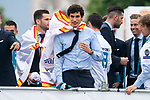 Real Madrid Jesus Vallejo during the celebration of the Thirteen Champions League at Cibeles Fountain in Madrid, Spain. May 27, 2018. (ALTERPHOTOS/Borja B.Hojas)