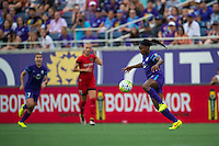 Orlando, FL - Sunday June 26, 2016: Jamia Fields  during a regular season National Women's Soccer League (NWSL) match between the Orlando Pride and the Portland Thorns FC at Camping World Stadium.