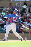 Carlos Pena #22 of the Chicago Cubs plays against the Arizona Diamondbacks in a spring training game at Salt River Fields on March 13, 2011 in Scottsdale, Arizona. .Photo by:  Bill Mitchell/Four Seam Images.