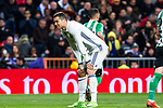 Cristiano Ronaldo of Real Madrid reacts  during the match of Spanish La Liga between Real Madrid and Real Betis at  Santiago Bernabeu Stadium in Madrid, Spain. March 12, 2017. (ALTERPHOTOS / Rodrigo Jimenez)