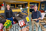 At Moriarty's Furnishing Shop in Killorglin on Monday.<br /> Ross Scott (customer) been shown by and Mick Carroll (Moriarty's) on the new policy as the store re-opened..
