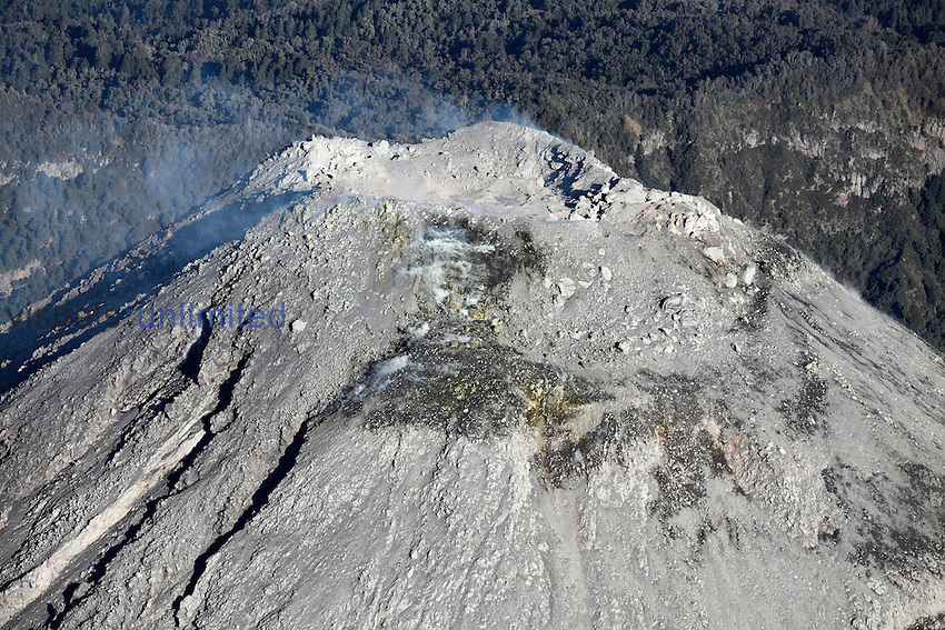 Colima Volcano summit crater, Mexico
