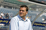 11 July 2009: Kansas City head coach Curt Onalfo. The New England Revolution played the Kansas City Wizards to a 0-0 tie at Gillette Stadium in Foxboro, Massachusetts in a regular season Major League Soccer game.