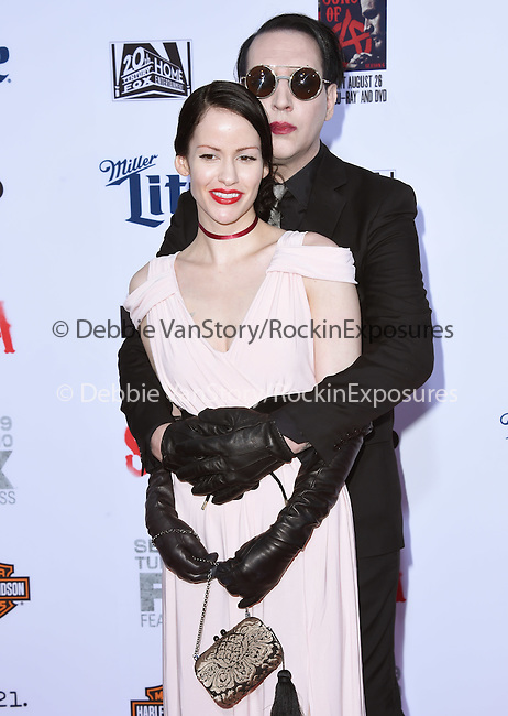 Marilyn Manson, Lindsay Usich attends  FX's SONS OF ANARCHY Premiere Screening held at The TCL Chinese Theatre  in Hollywood, California on September 06,2014                                                                               © 2014 Hollywood Press Agency