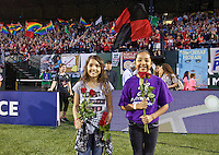 Portland, Oregon - Wednesday June 22, 2016: The Girls, Inc. Girls of the Game during a regular season National Women's Soccer League (NWSL) match at Providence Park.