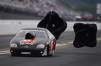Sept. 16, 2012; Concord, NC, USA: NHRA pro stock driver Erica Enders during the O'Reilly Auto Parts Nationals at zMax Dragway. Mandatory Credit: Mark J. Rebilas-