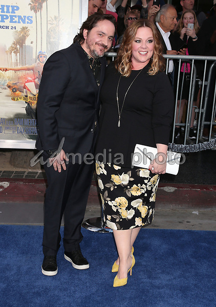 "20 March 2017 - Hollywood, California - Ben Falcone, Melissa McCarthy. ""CHiPS"" Los Angeles Premiere held at TCL Chinese Theatre. Photo Credit: Russ Elliot/AdMedia"