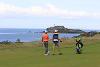 Maximilian Kieffer (GER) on the 4th during Round 1 of the Aberdeen Standard Investments Scottish Open 2019 at The Renaissance Club, North Berwick, Scotland on Thursday 11th July 2019.<br /> Picture:  Thos Caffrey / Golffile<br /> <br /> All photos usage must carry mandatory copyright credit (© Golffile | Thos Caffrey)