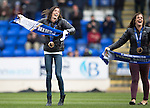 St Johnstone v Hibs...22.03.14    SPFL<br /> Olympic bronze medallists Eve Muirhead and Vicki Adams<br /> Picture by Graeme Hart.<br /> Copyright Perthshire Picture Agency<br /> Tel: 01738 623350  Mobile: 07990 594431