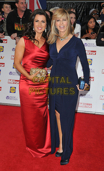 Susanna Reid &amp; Kate Garraway attend the Daily Mirror Pride of Britain Awards 2015, Grosvenor House Hotel, Park Lane, London, England, UK, on Monday 28 September 2015. <br /> CAP/CAN<br /> &copy;Can Nguyen/Capital Pictures