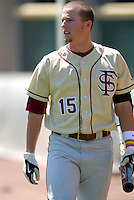 OF Tyler Holt of the FSU Seminoles during batting practice prior to a game vs Boston College at Shea Field April 7, 2010 in Chestnut Hill, MA (Photo by Ken Babbitt/Four Seam Images)