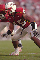 30 October 2004:  Shawne Merriman (45).Maryland upset #5 Florida State 20-17 October 30, 2004 at Byrd Stadium in College Park, MD..Mandatory Credit: Randy Litzinger/Icon SMI
