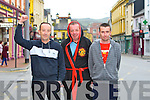 The athletes Joe Donovan, Dominic O'Brien and Martin Lacey before the Rock street bars Road Race on Bank Holiday Monday