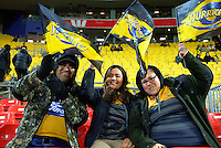 Fans arrive for the Super Rugby final match between the Hurricanes and Lions at Westpac Stadium, Wellington, New Zealand on Saturday, 6 August 2016. Photo: Dave Lintott / lintottphoto.co.nz