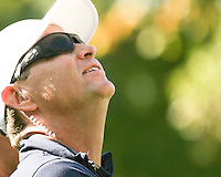 25 SEP 12  USA Captain Davis Love gazes skyward during Tuesdays Celebrity Scramble at The 39th Ryder Cup at The Medinah Country Club in Medinah, Illinois.