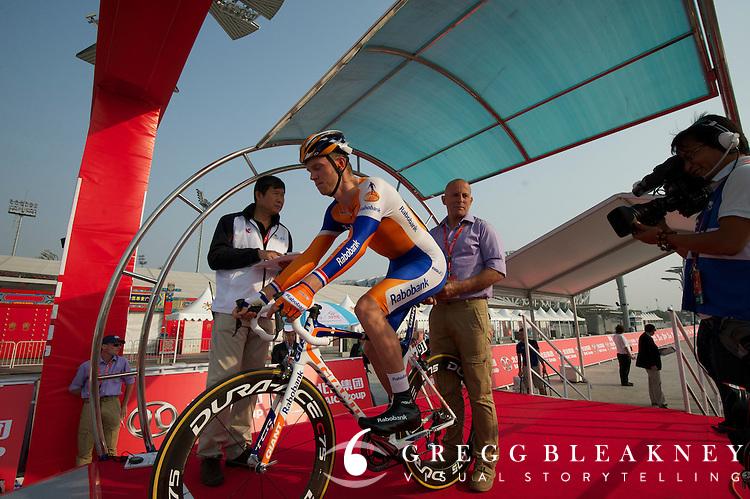"""Lars Boom, Rabobank - #6 -36"""" -- 2011 Tour of Beijing, Stage 1 ITT"""
