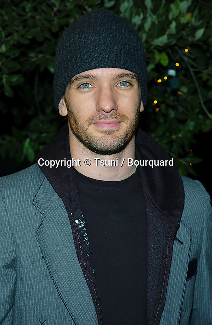 JC Chasez arriving at the  Warner Bros Party for Rock The Vote on the Warner Lot in Los Angeles. September 29, 2004.
