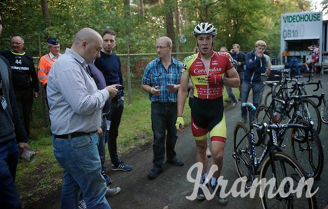 Laurens Sweeck (BEL/Corendon-Kwadro) post-race<br /> <br /> GP Neerpelt 2014