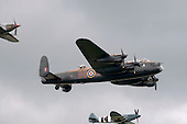 Battle of Britain Memorial Flight, Hurricane, Lancaster & Spitfire, at the Farnborough International Airshow
