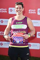 Marcus Bean<br /> at the start of the 2018 London Marathon, Greenwich, London<br /> <br /> ©Ash Knotek  D3397  22/04/2018