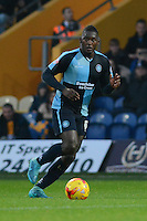 Wycombe Wanderers Aaron Pierre ventures forward during the Sky Bet League 2 match between Mansfield Town and Wycombe Wanderers at the One Call Stadium, Mansfield, England on 31 October 2015. Photo by Garry Griffiths.