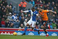Blackburn Rovers' Ryan Nyambe and Oldham Athletic's Craig Davies<br /> <br /> Photographer Stephen White/CameraSport<br /> <br /> The EFL Sky Bet League One - Blackburn Rovers v Oldham Athletic - Saturday 10th February 2018 - Ewood Park - Blackburn<br /> <br /> World Copyright &copy; 2018 CameraSport. All rights reserved. 43 Linden Ave. Countesthorpe. Leicester. England. LE8 5PG - Tel: +44 (0) 116 277 4147 - admin@camerasport.com - www.camerasport.com