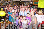 Double celebrations Tom & Mary Doona both celebrated their 60th birthday party's in Craineens Bar in Cahersiveen on Saturday last, Tom originally from Beaufort and Mary from Cahersiveen now living in England celebrated with family & friends.