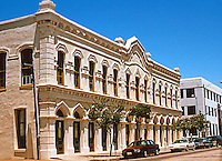 Galveston:  Heidenheimer Bldg., 1875. 23rd near Mechanic. Venetian Gothic Commercial.  Photo '96.