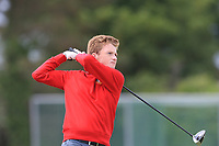 Adam Doran (Co.Louth) on the 1st tee during Round 4 of The East of Ireland Amateur Open Championship in Co. Louth Golf Club, Baltray on Monday 3rd June 2019.<br /> <br /> Picture:  Thos Caffrey / www.golffile.ie<br /> <br /> All photos usage must carry mandatory copyright credit (© Golffile | Thos Caffrey)