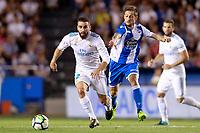 Deportivo de la Coruna's Fede Cartabia (r) and Real Madrid's Daniel Carvajal during La Liga match. August 20,2017.  *** Local Caption *** © pixathlon +++ tel. +49 - (040) - 22 63 02 60 - mail: info@pixathlon.de