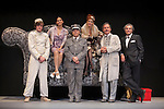 "Sara Salamo, Raul Merida, Pep Munne, Marta Belenguer, Luis Fernando Alves and Mundo Prieto at ""Lo que vio el mayordomo"" theater play in Madrid, Spain. July 14, 2015. (ALTERPHOTOS/Victor Blanco)"