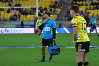 Hurricanes assistant coach Carlos Spencer during the Super Rugby match between the Hurricanes and Chiefs at Westpac Stadium in Wellington, New Zealand on Friday, 27 April 2019. Photo: Dave Lintott / lintottphoto.co.nz