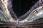 Olympia 2004 Athen Eroeffnungsfeier; Uebersicht ; Stadion; Feuerwerk