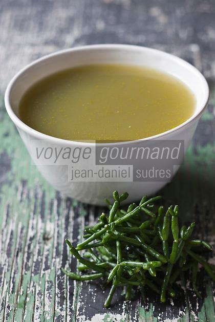 Europe/France/Picardie/80/Somme/Baie de Somme/ Le crotoy: La soupe aux salicornes de chez Francine