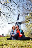 April 18, 2015, Netherlands, Den Bosch, Maaspoort, Fedcup Netherlands-Australia, Olympic  Silver Medals winners Mirjam Oremans and Kristie Boogert (L)<br /> Photo: Tennisimages/Henk Koster