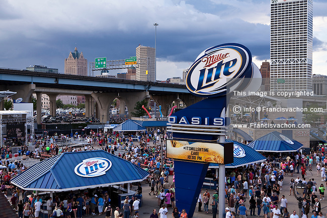Miller Lite Oasis stage is seen on the Henry W. Maier Festival Park (Summerfest Grounds) in Milwaukee, Wisconsin, Friday June 28, 2013. Summerfest is a 11 days long music festival made of 11 stages with performances from over 700 bands.