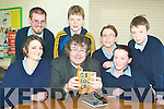 Lessons in literature: Listowel Community College pupils with Gabriel Fitzmaurice on Tuesday, who was reading from his book at the Listowel school. Pictured were Michelle Murphy, Emma Makin, Denis Aherne, James Relihan, Tracey Lyons and Gavin Stack.