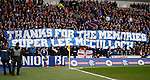 Rangers fans have a tribute banner to ex-captain Lee McCulloch