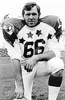 Bill Whistler 1970 Canadian Football League Allstar team. Copyright photograph Ted Grant