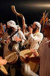 Israel, Masada, the inauguration of the Synagogue, celebrating with the Torah on the way up to the Synagogue, 2005<br />