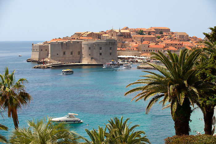 Stock photos of Dubrovnik Port with St John's Fort - Croatia