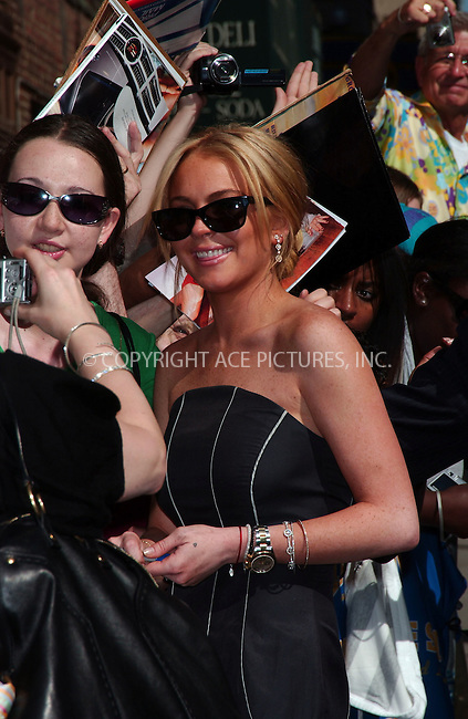 "WWW.ACEPIXS.COM . . . . . ....May 9 2007, New York City....Actress Lindsay Lohan arriving at ""The Late Show With David Letterman"" at the Ed Sullivan Theatre.....Please byline: KRISTIN CALLAHAN - ACEPIXS.COM.. . . . . . ..Ace Pictures, Inc:  ..(646) 769 0430..e-mail: info@acepixs.com..web: http://www.acepixs.com"