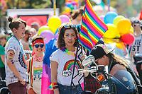 "VANCOUVER, CANADA, 05.08.2018 - PRIDE- VANCOUVER - Movimentacao durante Parada LGBT "" Vancouver Pride Parade""na cidade de Vancouver no Canada neste domingo, 05.(Foto: Clelio Tomaz/Brazil Photo Press)"