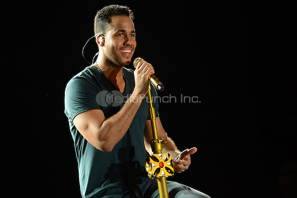 March 6 2014: Romeo Santos during his concert at the Pirata Fuente Stadium in Boca del Rio on March 6, 2014. SPNorte/MediaPunch ***USA ONLY****