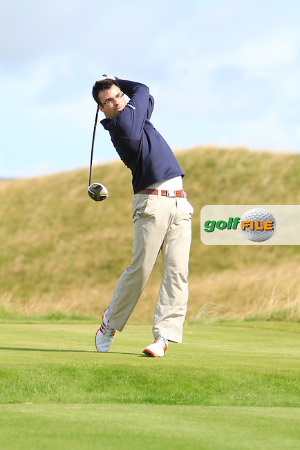 Gary McGrane (The Royal Dublin) on the 14th tee during the South of Ireland Amateur Open Championship Third Round at Lahinch Golf Club  29th July 2013 <br /> Picture:  Thos Caffrey / www.golffile.ie