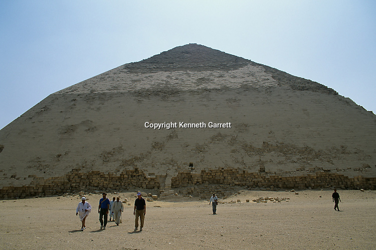 "Egypt's Old Kingdom,""Bent Pyramid"" , of Sneferu, constructed of local limestone,Dahshur, Egypt"