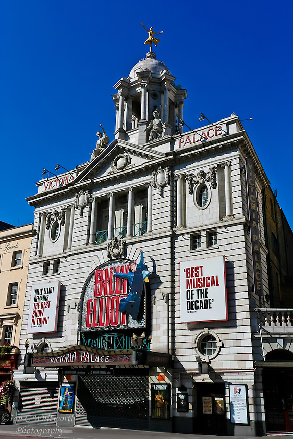 A look at the Victoria Palace Theatre in London with Billy Elliot playing