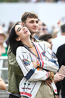 JUL 06 Dua Lipa and Anwar Hadid attending British Summertime 2019