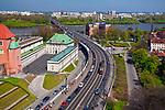 Aleja Solidarności i Most Śląsko-Dąbrowski, Warszawa, Polska<br /> Solidarity Avenue and Silesian-Dabrowski Bridge, Warsaw, Poland